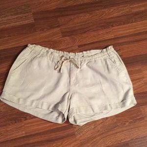 Tan Old Navy Linen Shorts